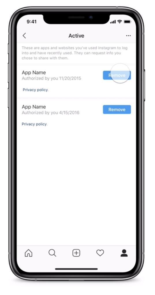 آموزش اینستاگرام | کنترل داده هایی که با برنامه های شخص ثالث به اشتراک میگذارید