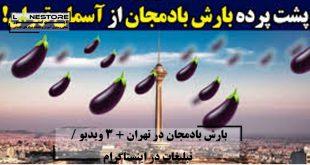 بارش بادمجان در تهران پشت پرده