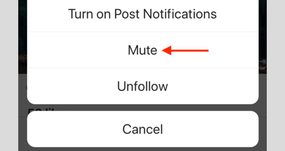 بی صدا (mute) کردن افراد در اینستاگرام (۷)