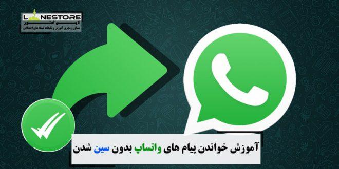 آموزش خواندن پیام های واتساپ بدون سین شدن